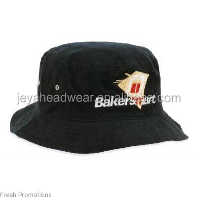 100% Cotton Blank black Bucket hat with design logo custom cheap bucket hat for bakers
