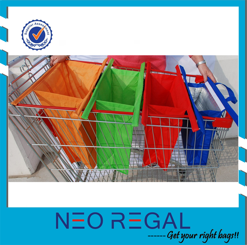 Eco friendly shopping trolley bag, grocery cart bags, reusable shopping bag
