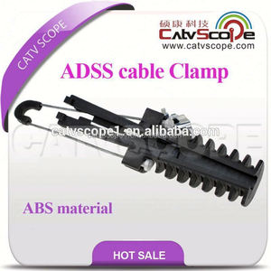 ABS Plastic steel wire dead end clamp /ADSS cable tension clamp