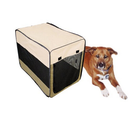 600D oxford collapsible Big dog carrier pop-up kennel