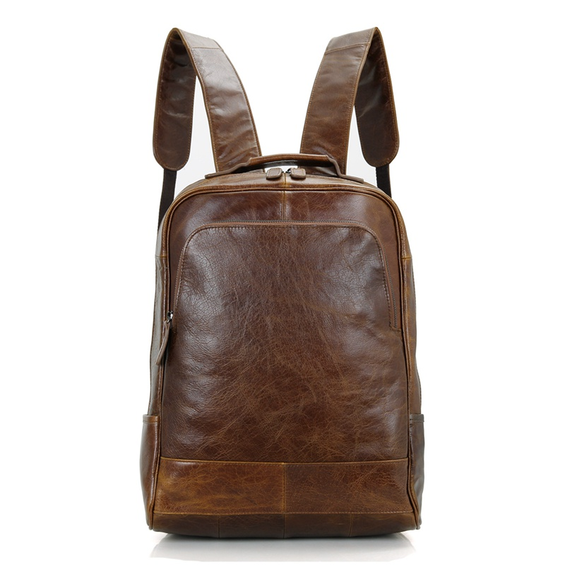 7347B JMD Top Grain Leather Small BackpackHigh School Bag Trendy <strong>Backpack</strong>