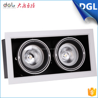 led christmas lights wholesale square recessed COB LED Grille Downlight restaurant furniture two head led grille light