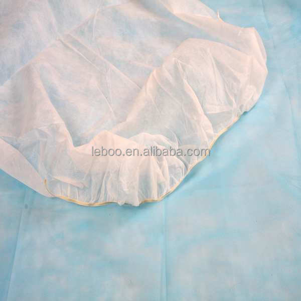 Disposable waterproof single nonwoven bed cover sheet with elastic for hospital