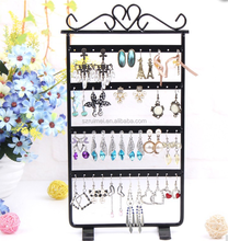 Shopping 48 Holes Black color Metal Earring Jewelry Display Rack Stand Holder Organizer