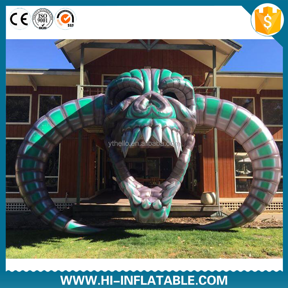 Hot selling large inflatable skull/ inflatable skull head/ Halloween inflatable decoration