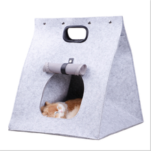 2017 New Design Felt Cloth Pet Bag Collapsible Portable Soft Comfortable Cat Carrier