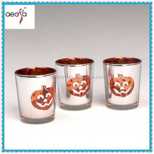Halloween decor wholesale stemmed glass votive candle holder