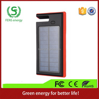 New portable solar power bank charger, CE ROHS approved waterproof solar panel usb charger