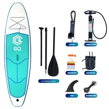 Soft top air inflate sup paddle board with fins sup paddle inflatable cheap isup