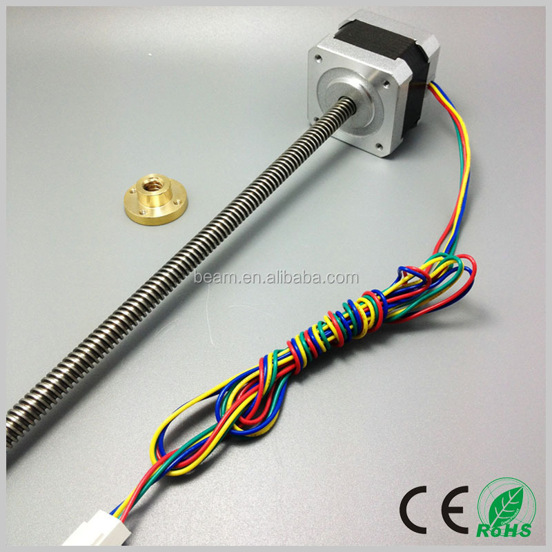 1.8 deg 2 phase stepping motor 42mm mini linear actuator nema 17 linear stepper motor with cheap price