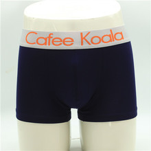 Fast delivery soft solid color mens underwear boxers