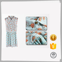 High quality Cheap Casual plain printed polyester dress patterns