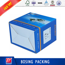 Glossy lamination corrugated board e flute paper box