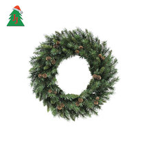 Customized PVC artificial christmas garland green