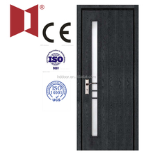 Black walnut glass wood interior door