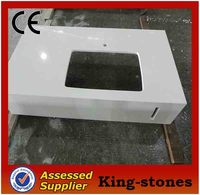 White Artificial Stone Quartz Slab with Veins for Flooring / Countertop wholesale
