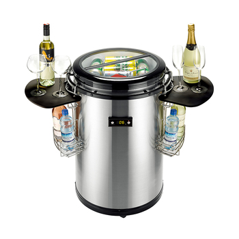 50L Commercial Portable Round Barrel Beer Beverage Drink Can Party Coolel With Wheels