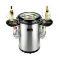 50L Commercial Portable Round Barrel Can Beverage Party Coolel With Wheels