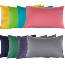 poly fabric pillow with metallic fabric