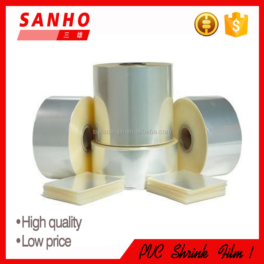 high quality transparent plastic soft pvc shrink film