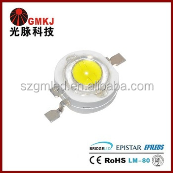 Good Quality 1W High Power LED,Epistar Chip,Bridgelux Chip High CRI LED 1W
