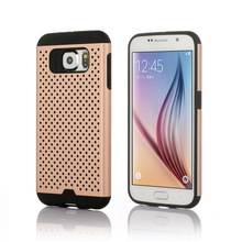 Rubber Mesh Combo Back Cover Case for Galaxy S6, S6 Edge New Products Mobile Accessories