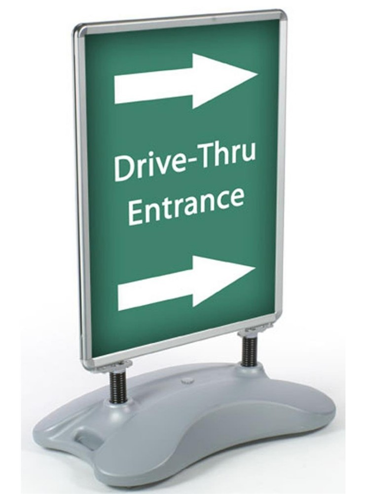 "Signage & Display products 22""x28"" or 24'x36"" Black Base parking garages arenas car washes pavement signs driveway signs"