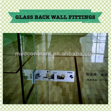 Glass back wall fittings in squash court