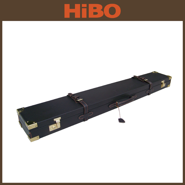 Top quality leather rifle gun case with lock