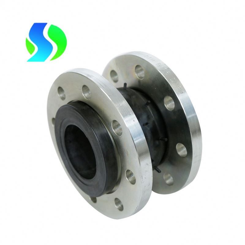 dn400 12.5mm tile flanged elastic rubber expansion joint single sphere