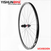 2017 YISHUN 27.5er Bicycle MTB Offset Asymmetry 1327g Light XC 240 Swiss Hubs Stiff Carbon Mountain Bike Wheels 240S-27.5-30S