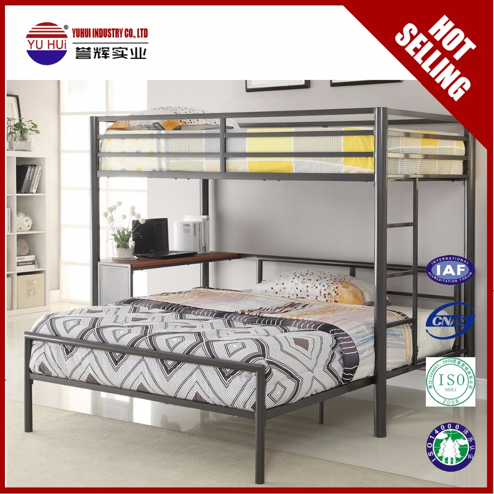 Cheap Bunk Bed Black Full Size Loft Bed For Adult Twin