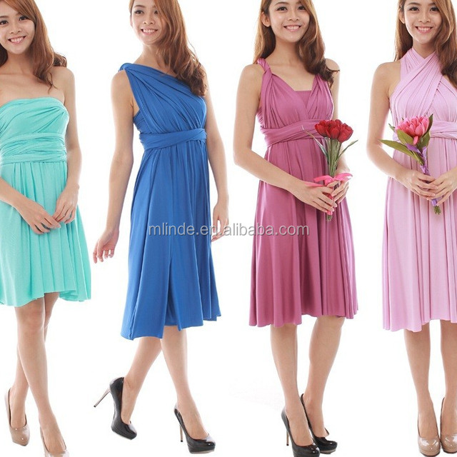 BRIDESMAID DRESS x-back with sleeves BRIDESMAID DRESS cross front halter twisted one shoulder multiway BRIDESMAID DRESS