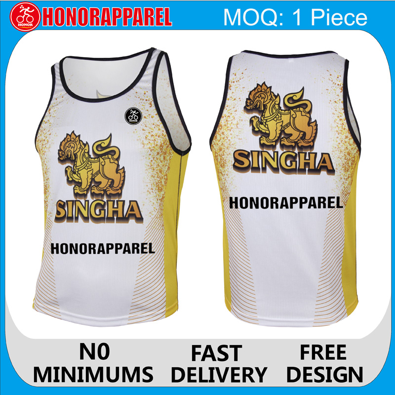 Breathable Cycling Wear Running Singlet Running T-shirt Honorapparel