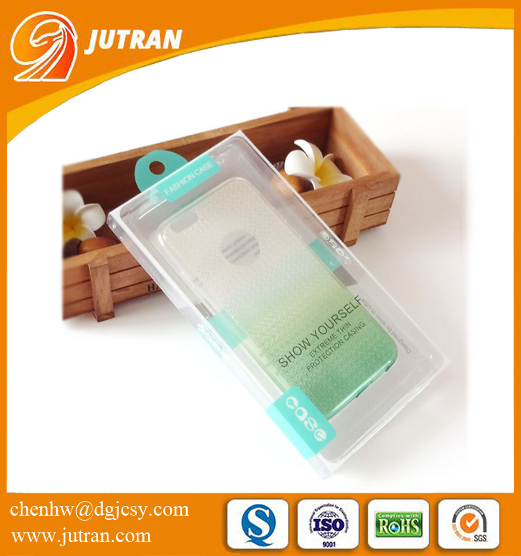 PVC Clear Customized Printing Mobile Phone Cover/Case Plastic Packaging Box