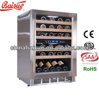 HOT SALE SN45 bottles capacity 23 inch Dual Zone wine refrigerator under counter Compressor Cooling Built-in Wine Cooler