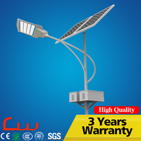 IP65 100 watt LED solar power energy street light with pole