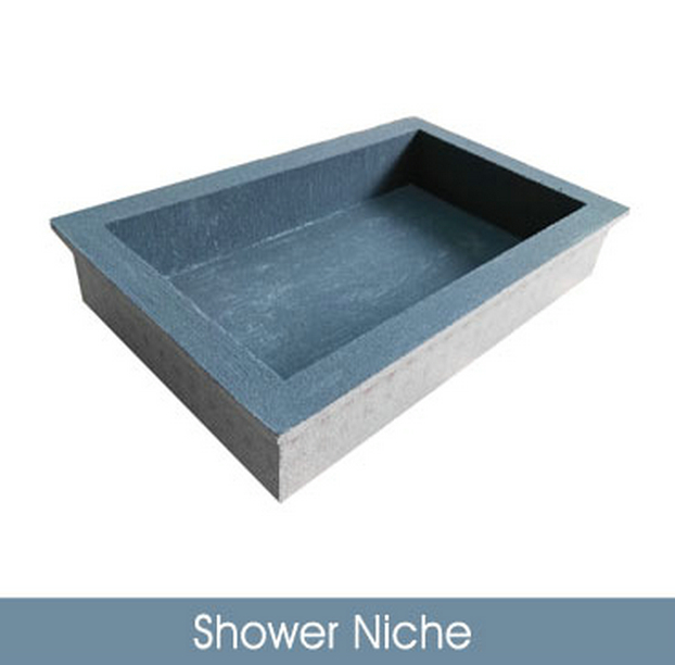 Shower Niche EPS reinforced with waterproofing membrane-Fiberglass mesh+cement XPS tile backer board