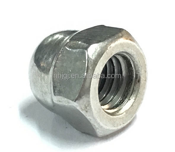 Hexagon domed cap nuts yellow zinc m buy
