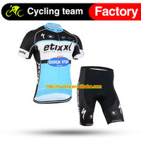 Men's High tech sublimation print summer cycling jersey with same fit short