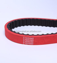 China Supplier Red Rubber Coated Timing Belts