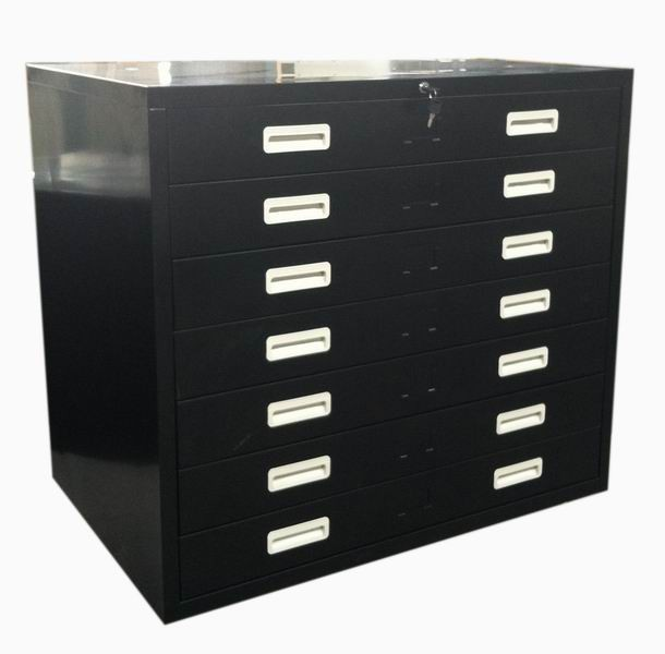 Cheap Black 7 Drawers Metal Map Drawings Filing Cabinets