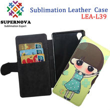 Alibaba China Sublimation Leather Phone Case for Sony Z1 L39