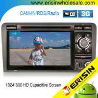 "Erisin ES2027A 7"" Touch Screen 2 Din Car Radio Bluetooth for A3 RNSE-PU"
