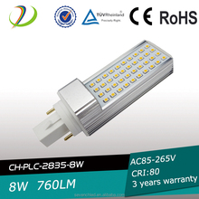 Clear cover led light g24 plc led lamp replacing 26w cfl,high power plc 2 pin 4 pin led g24 lamp