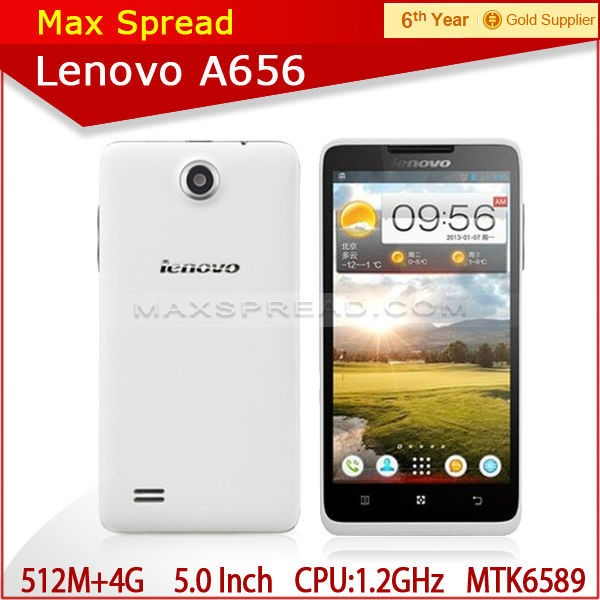 "5"" IPS MTK6589 Quad Core 512M RAM+4G ROM Dual SIM 3G Android smart phone Lenovo A656 made in china"