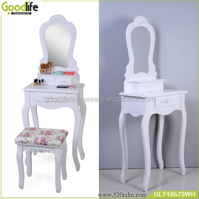 Guangdong factory samll makeup table makeup vanity table wholesale in white