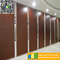 Powder Coated Movable Wooden Partition Walls Acoustic Soundproof Office Divider