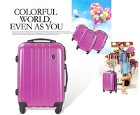 "Light Weight Trolley school Suitcase, High Quality 20"" 24"" ABS Travel Luggage Set"