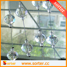 2016 latest luxury transparent crystal glass bead curtain for Home Living Room Bedroom bathroom Decor